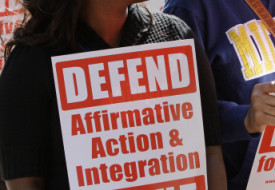 the fallacies surrounding affirmative action in america Justice goodwin liu reexamined seminal affirmative action in higher  bakke and leading up to the us supreme court's 2003 decision in gratz v  cultural politics of race surrounding affirmative action admissions cases.