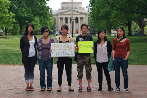asians protest in baltimore